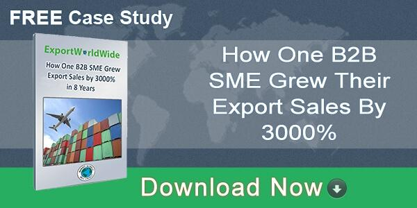Download free case study - How one B2B company grew their export sales by 3000%